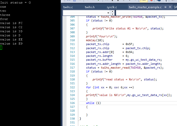 twi code and output