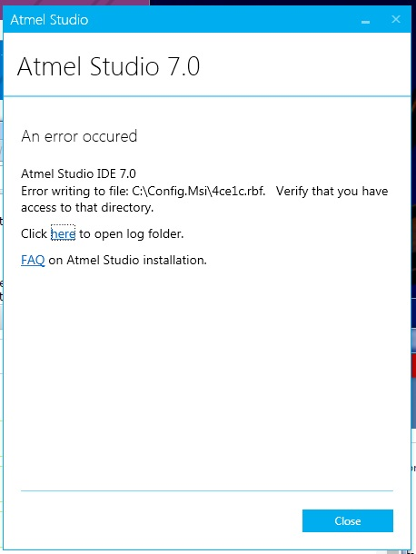 Atmel Studio 7 Installation problems | AVR Freaks